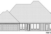 Tudor Style House Plan - 4 Beds 3.5 Baths 3795 Sq/Ft Plan #84-601 Exterior - Rear Elevation