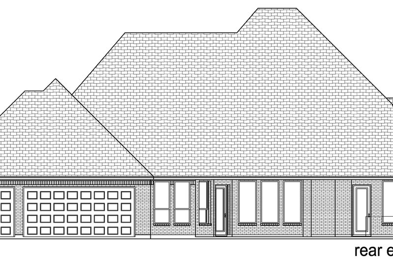 Tudor Exterior - Rear Elevation Plan #84-601 - Houseplans.com
