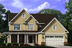 Country Exterior - Front Elevation Plan #1010-246