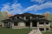 Contemporary Style House Plan - 4 Beds 4 Baths 7655 Sq/Ft Plan #920-90 Exterior - Front Elevation
