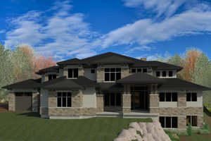 Contemporary Exterior - Front Elevation Plan #920-90