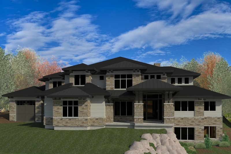 Dream House Plan - Contemporary Exterior - Front Elevation Plan #920-90