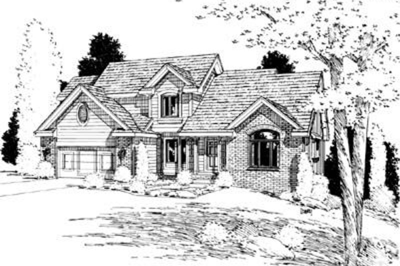 Traditional Exterior - Front Elevation Plan #20-882 - Houseplans.com