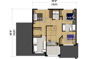 Contemporary Style House Plan - 3 Beds 2.5 Baths 1966 Sq/Ft Plan #25-4892