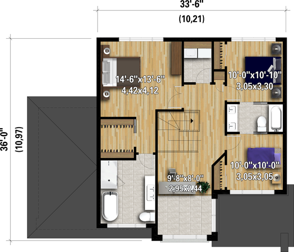 House Plan Design - Contemporary Floor Plan - Upper Floor Plan #25-4892