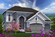 Architectural House Design - European Exterior - Front Elevation Plan #70-1171