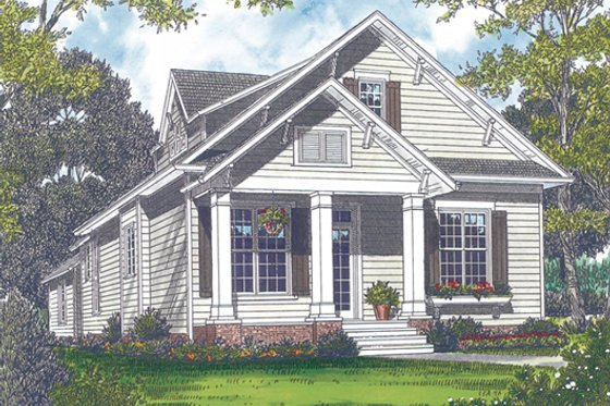Bungalow Exterior - Front Elevation Plan #453-6