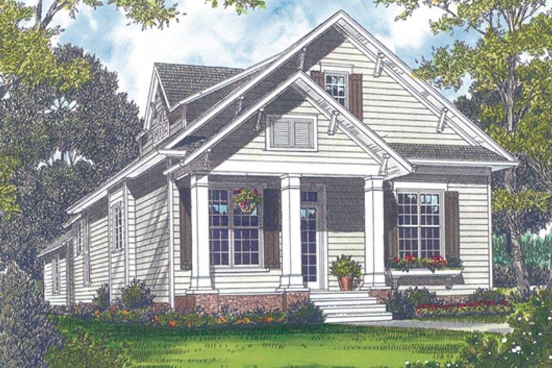 Bungalow Exterior - Front Elevation Plan #453-6 - Houseplans.com