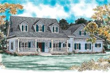 House Blueprint - Country Exterior - Front Elevation Plan #72-133
