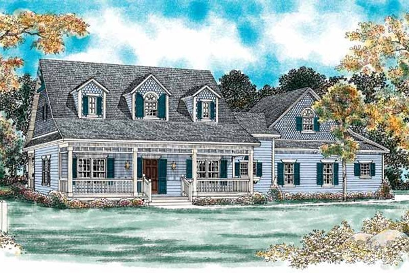 Architectural House Design - Country Exterior - Front Elevation Plan #72-133