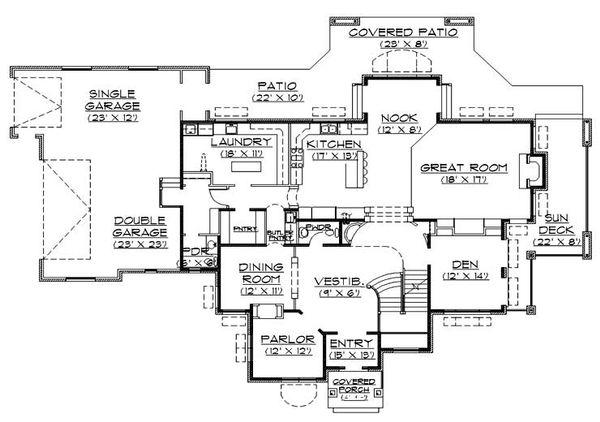 House Plan Design - Traditional Floor Plan - Main Floor Plan #5-438