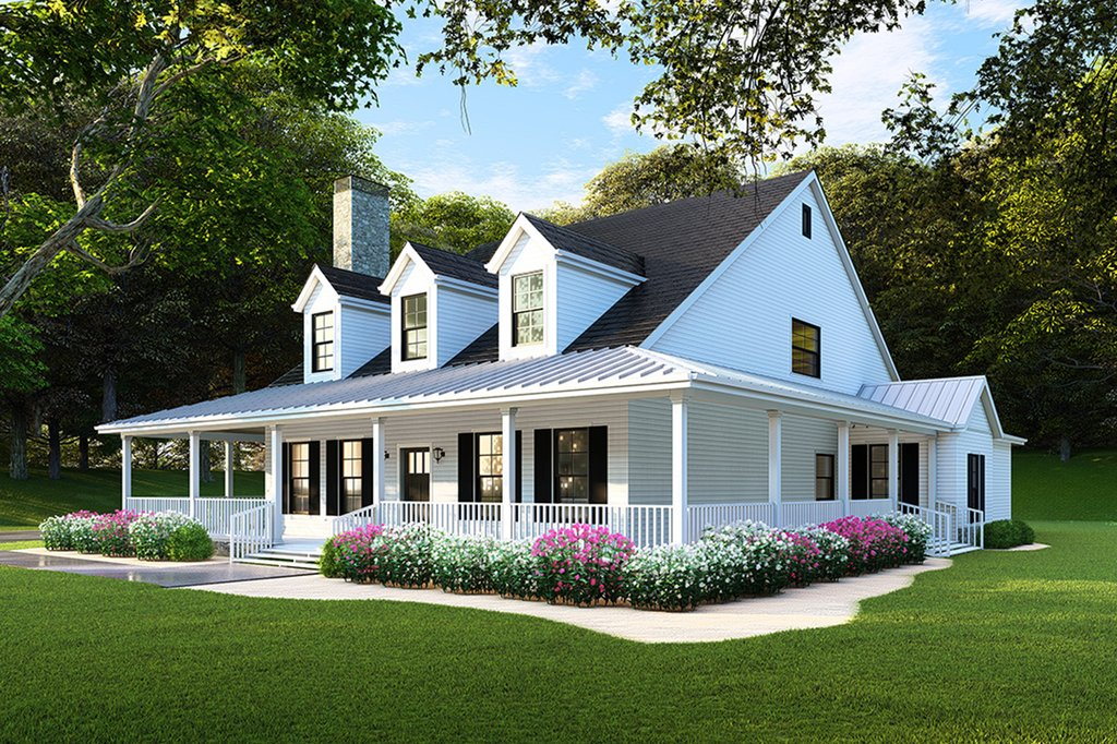 Country Style House Plan - 4 Beds 3 Baths 2180 Sq/Ft Plan ...
