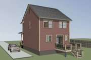 Country Style House Plan - 3 Beds 2.5 Baths 1280 Sq/Ft Plan #79-173 Exterior - Rear Elevation