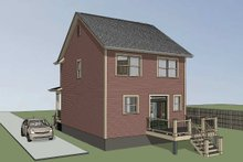 Country Exterior - Rear Elevation Plan #79-173