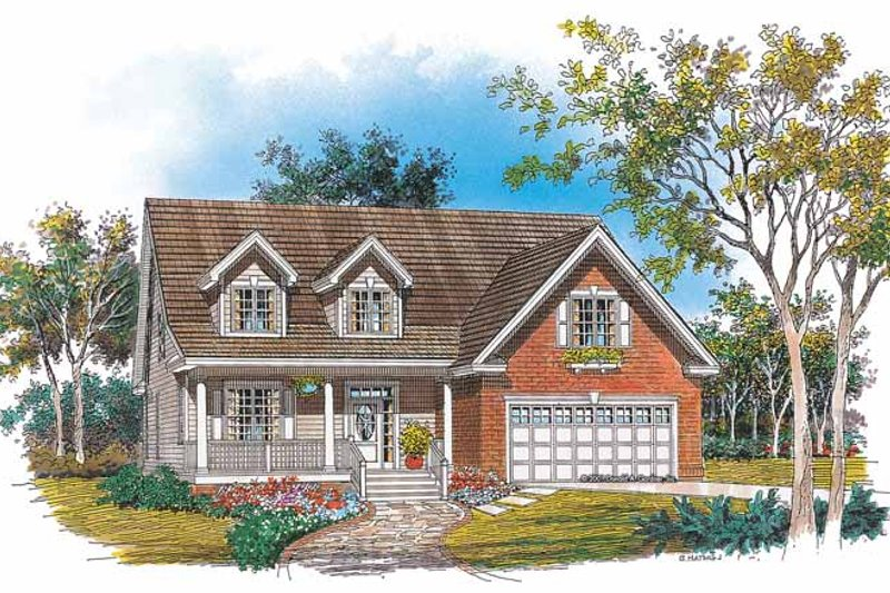 Country Exterior - Front Elevation Plan #929-642