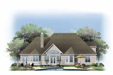 Dream House Plan - Traditional Exterior - Rear Elevation Plan #929-874