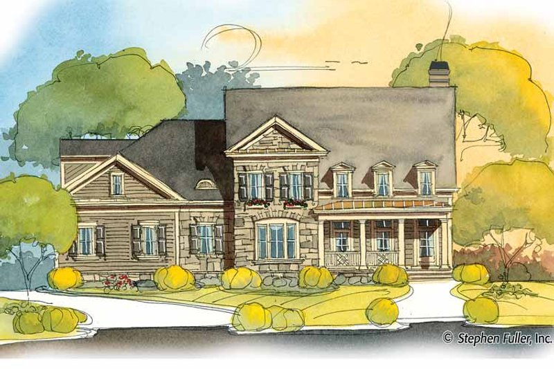 Country Exterior - Front Elevation Plan #429-398 - Houseplans.com