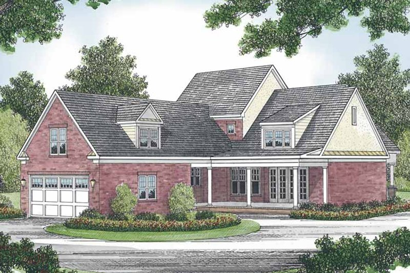 Traditional Exterior - Front Elevation Plan #453-524 - Houseplans.com