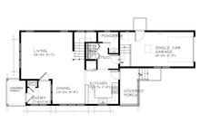 Traditional Floor Plan - Main Floor Plan Plan #895-77