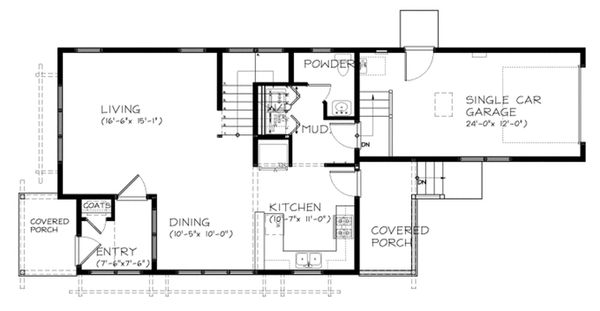 Traditional Floor Plan - Main Floor Plan Plan #895-77