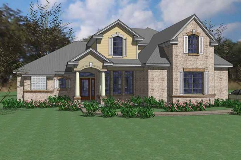 Home Plan - European Exterior - Front Elevation Plan #120-242