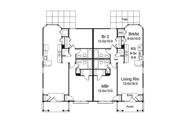 Country Floor Plan - Main Floor Plan Plan #57-683