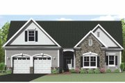 Ranch Style House Plan - 3 Beds 2.5 Baths 1903 Sq/Ft Plan #1010-28 Exterior - Front Elevation