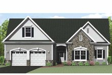 House Plan Design - Ranch Exterior - Front Elevation Plan #1010-28