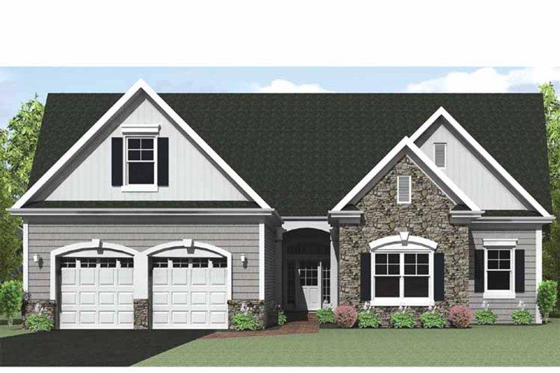 Ranch Exterior - Front Elevation Plan #1010-28 - Houseplans.com