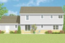 House Blueprint - Country Exterior - Rear Elevation Plan #72-1107