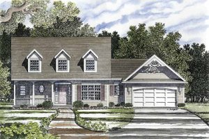 Home Plan - Country Exterior - Front Elevation Plan #316-126