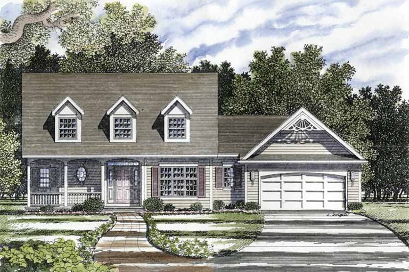 Country Exterior - Front Elevation Plan #316-126 - Houseplans.com