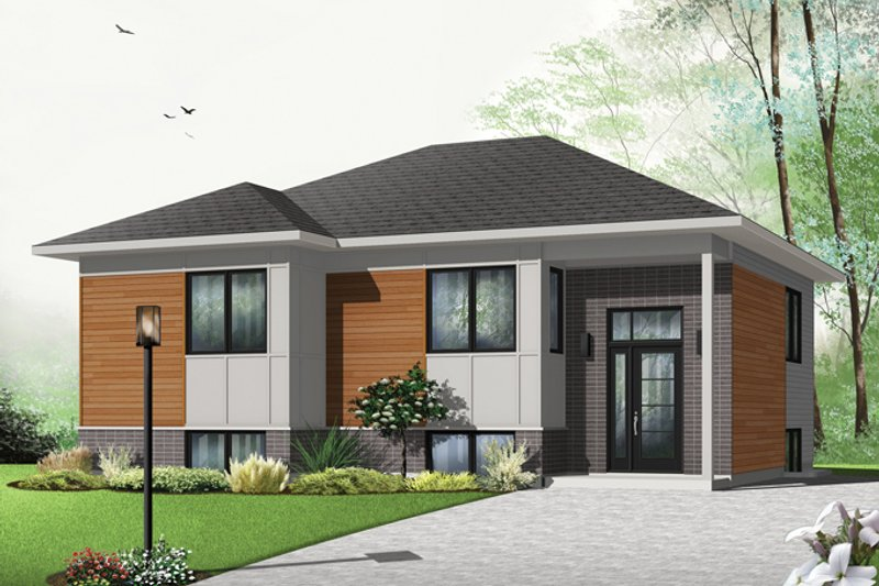 Architectural House Design - Contemporary Exterior - Front Elevation Plan #23-2578