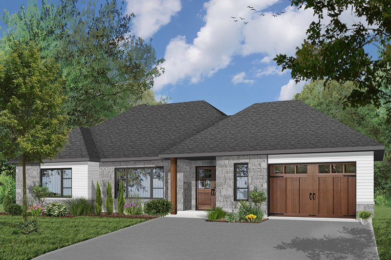 Ranch Exterior - Front Elevation Plan #23-2650