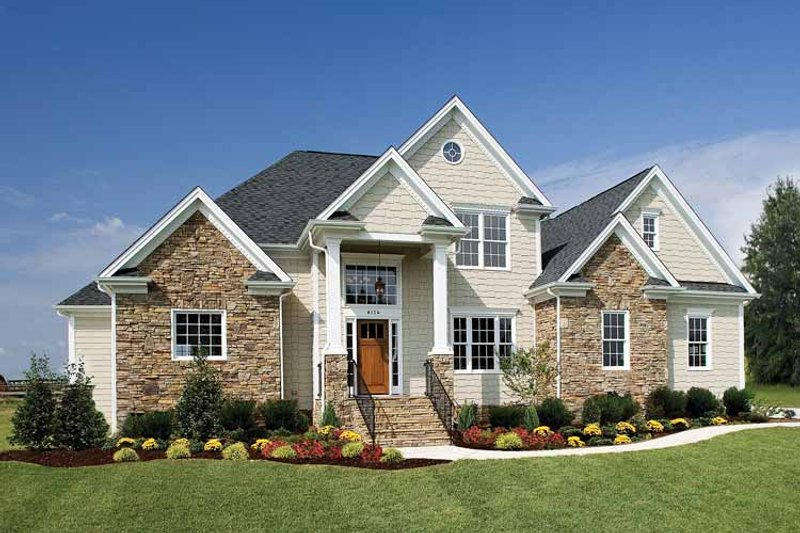 House Plan Design - Country Exterior - Front Elevation Plan #929-672