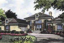 House Plan Design - Mediterranean Exterior - Front Elevation Plan #417-660