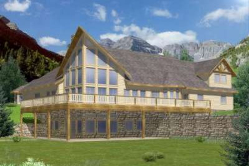 Modern Exterior - Front Elevation Plan #117-468 - Houseplans.com