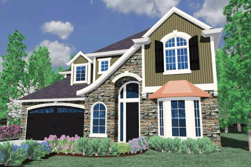 Traditional Exterior - Front Elevation Plan #509-341
