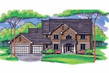 Colonial Exterior - Front Elevation Plan #51-1012