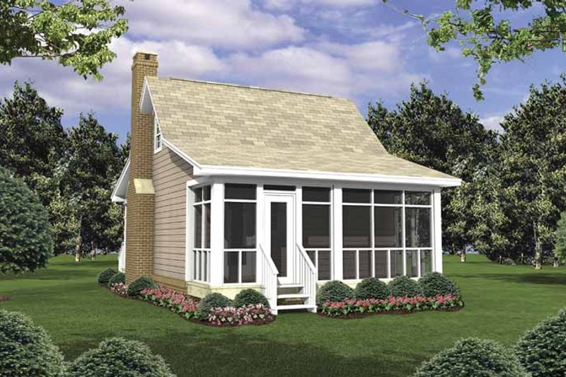 Colonial Exterior - Rear Elevation Plan #21-418 - Houseplans.com
