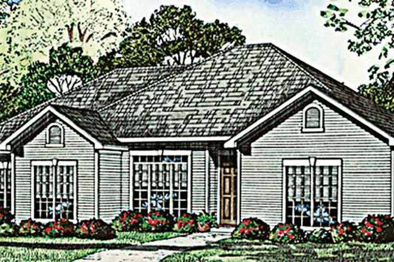 Ranch Exterior - Front Elevation Plan #17-3109