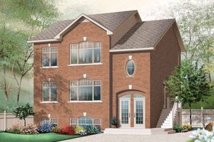 Dream House Plan - European Exterior - Front Elevation Plan #23-2448