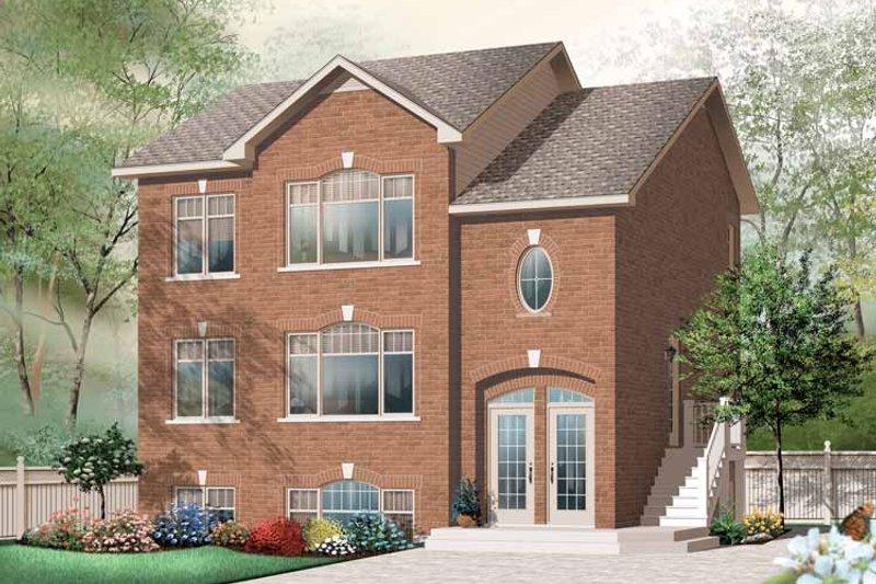Architectural House Design - European Exterior - Front Elevation Plan #23-2448
