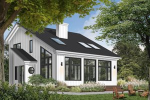 Home Plan - Contemporary Exterior - Front Elevation Plan #23-2037