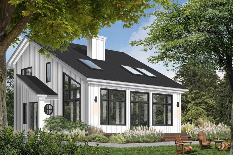 Dream House Plan - Contemporary Exterior - Front Elevation Plan #23-2037