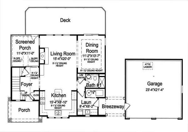 Country Floor Plan - Main Floor Plan Plan #46-476