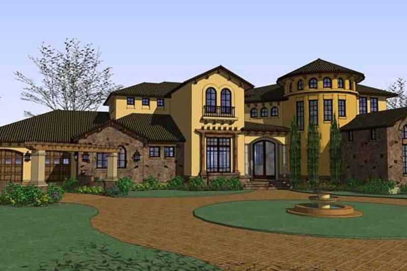 Dream House Plan - Mediterranean Exterior - Front Elevation Plan #120-218