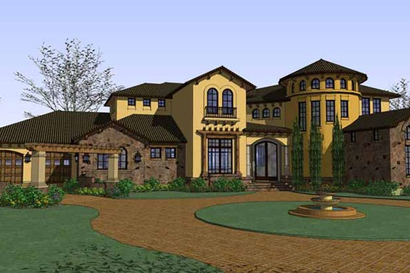 Architectural House Design - Mediterranean Exterior - Front Elevation Plan #120-218