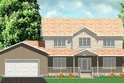 Traditional Style House Plan - 3 Beds 2.5 Baths 2252 Sq/Ft Plan #414-108 Exterior - Front Elevation