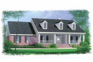 Home Plan - Colonial Exterior - Front Elevation Plan #15-327